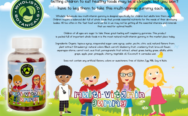 Multi-Vitamin Gummy Flyer